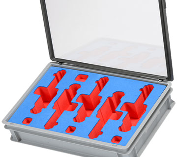 Bespoke Foam Kitting with Company Branding, designed to secure fragile or valuable parts.