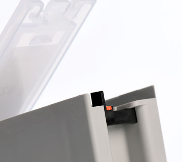 Locking Device on KitBoxes to stop components for being tampered with and safe.