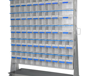 TwinBin racking systems for implementing stock control on the shop floor.