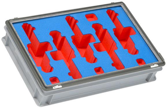 Bespoke Foam Kitting, designed to secure fragile or valuable parts.