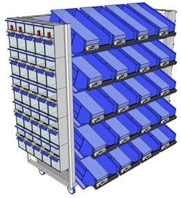 kanban twinbin cart multipurpose